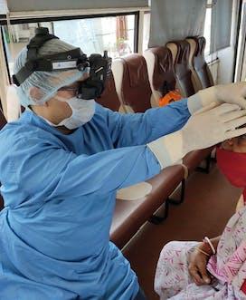 India Vision Van Patient Exam 2
