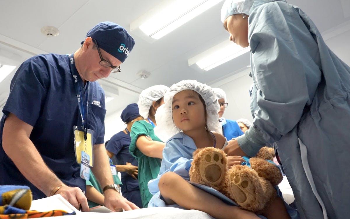 Child awaiting surgery.