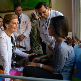 The Countess of Wessex meeting patients