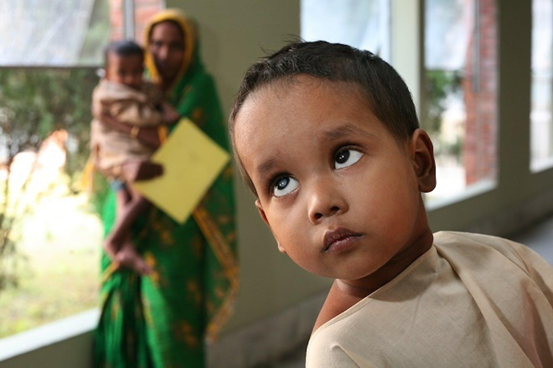 Paediatric cataract patient Halima from Bangladesh