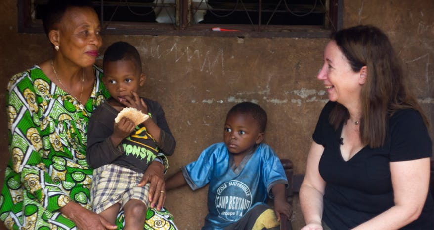 Gransnet editor Cari Rosen met grandmother Honorine 3000 miles away in Cameroon.