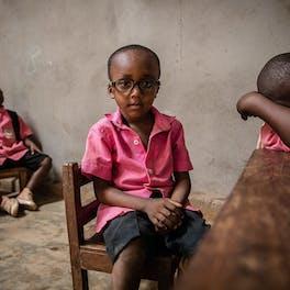Children in class.