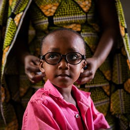 Saliou from Yaoundé, Cameroon, can see again after cataract removal surgery