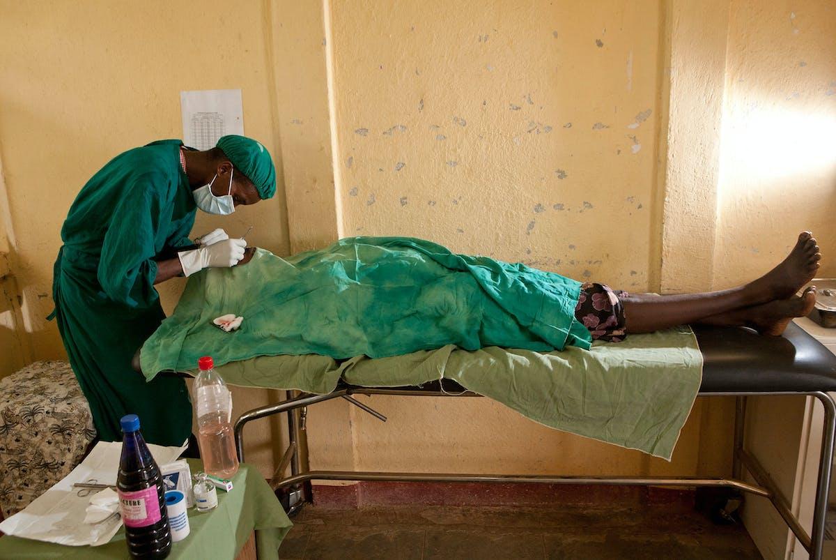 Cataract patient Aylito undergoes surgery in Ethiopia