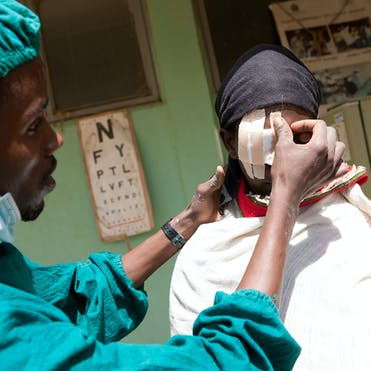 Cataract patient Aylito recovering from surgery in Ethiopia