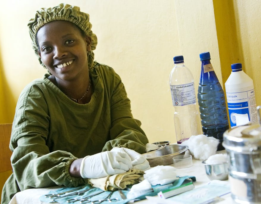 Integrated Eye Care Worker Tsehay at the Gamo Gofa Zada Health Clinic in Ethiopia