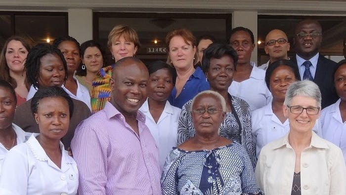 The orbis team in Ghana.