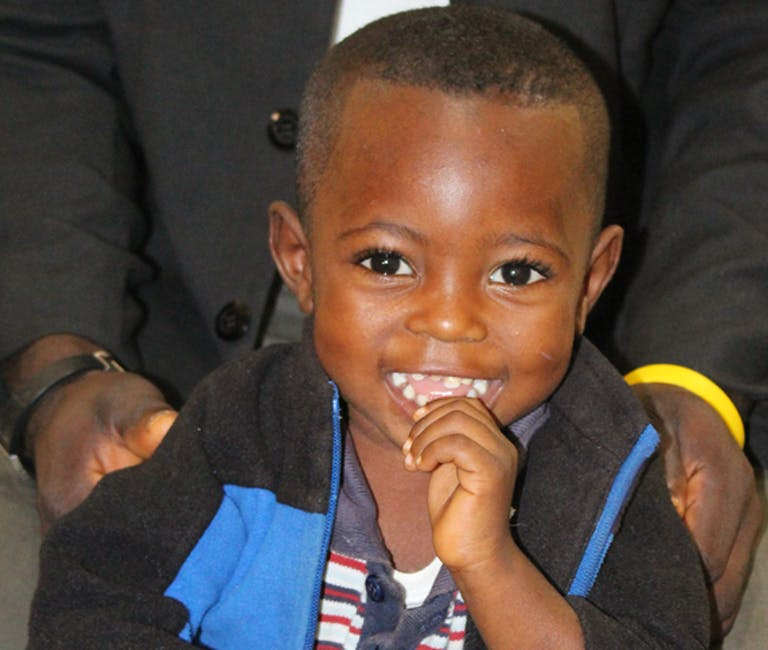 Smiling child.