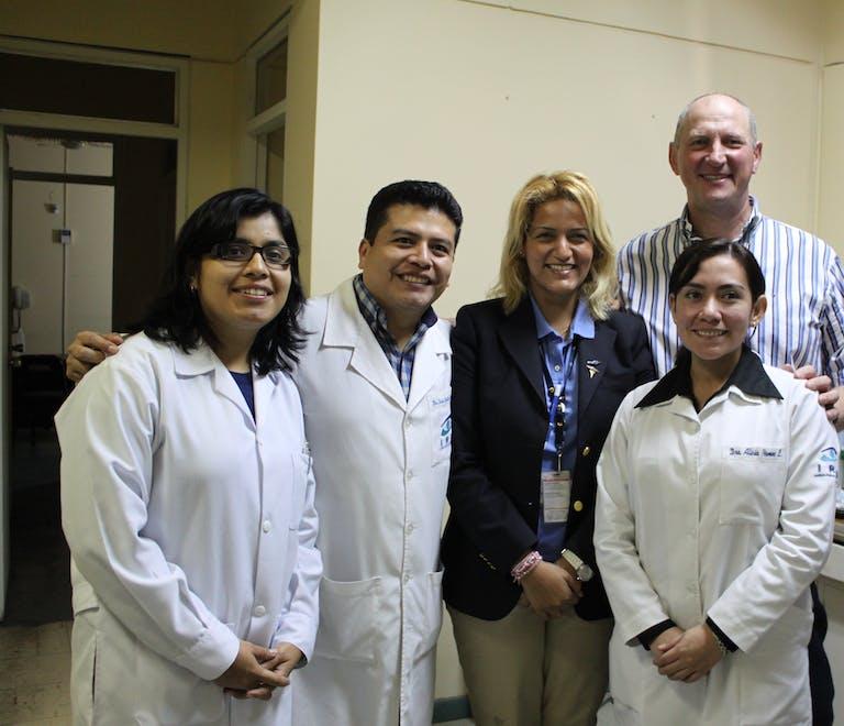 A team of Orbis doctors in training in Trujillo, Peru