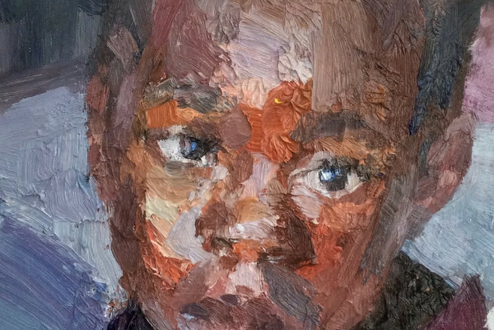 A painting from the Visions of Zambia exhibition