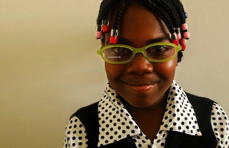 Zambian cataract patient Gladys