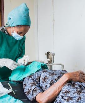 Ethiopia Orbis 329 Health center Belay Bonger Patient