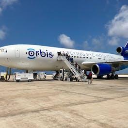 Flying Eye Hospital In Barbados.