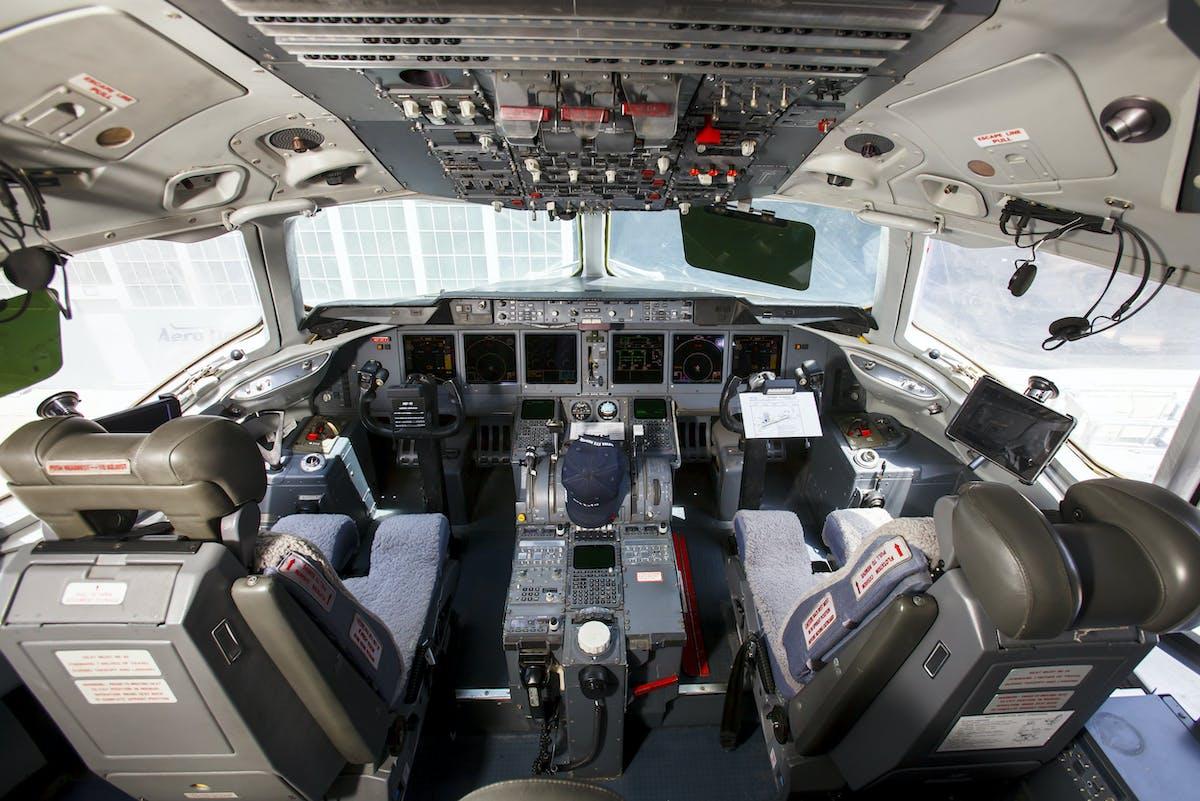 Orbis Flying Eye Hospital MD-10 cockpit