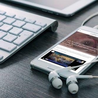 A mobile phone using the Cybersight telemedicine platform