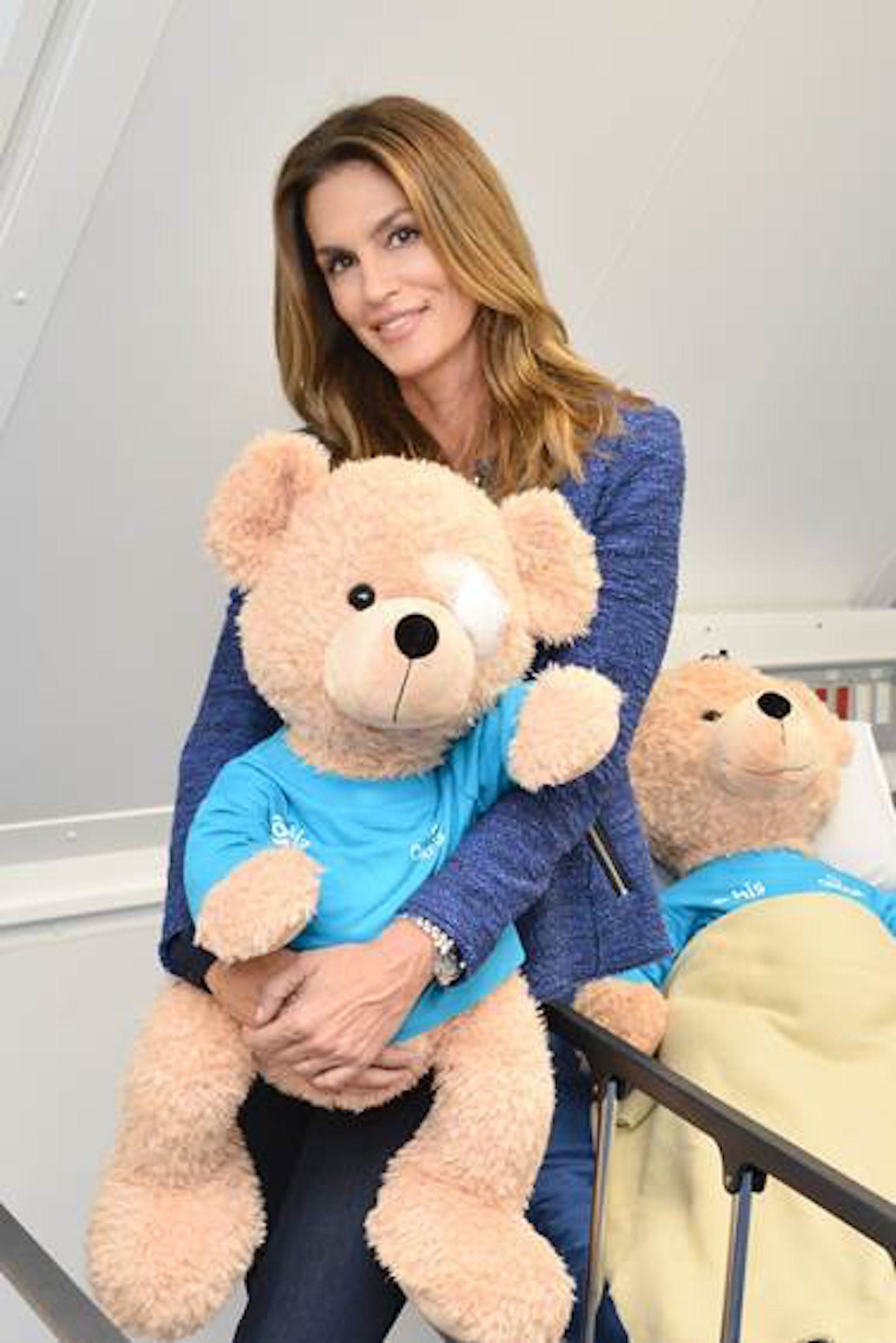 Seymour with Cindy Crawford