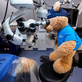 Seymour training to be an eye surgeon