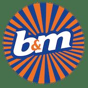 B&M logo.