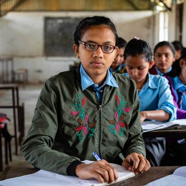 Ganga from Nepal in school