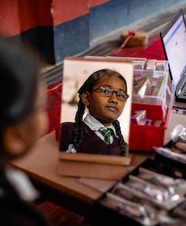 A school screening in Nepal