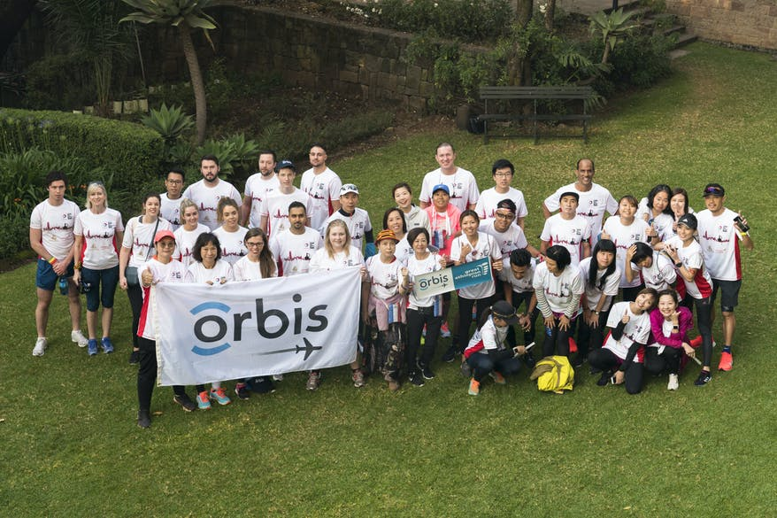 Orbis runners from across the globe at the Great Ethiopian Run