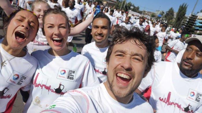 GER runners looking joyful during the race