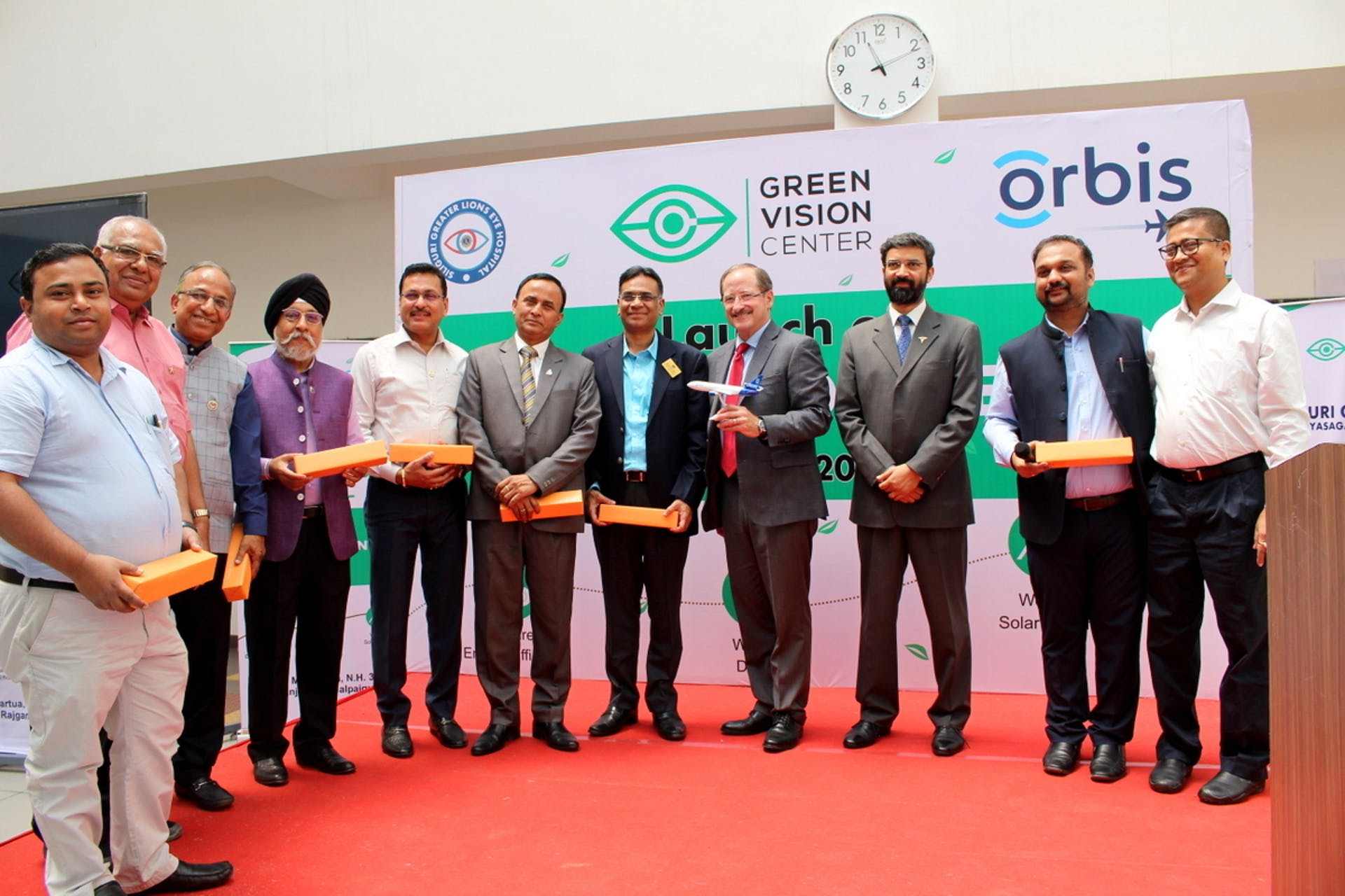 Orbis CEO, Country Director, Program Director along with others at the launch event