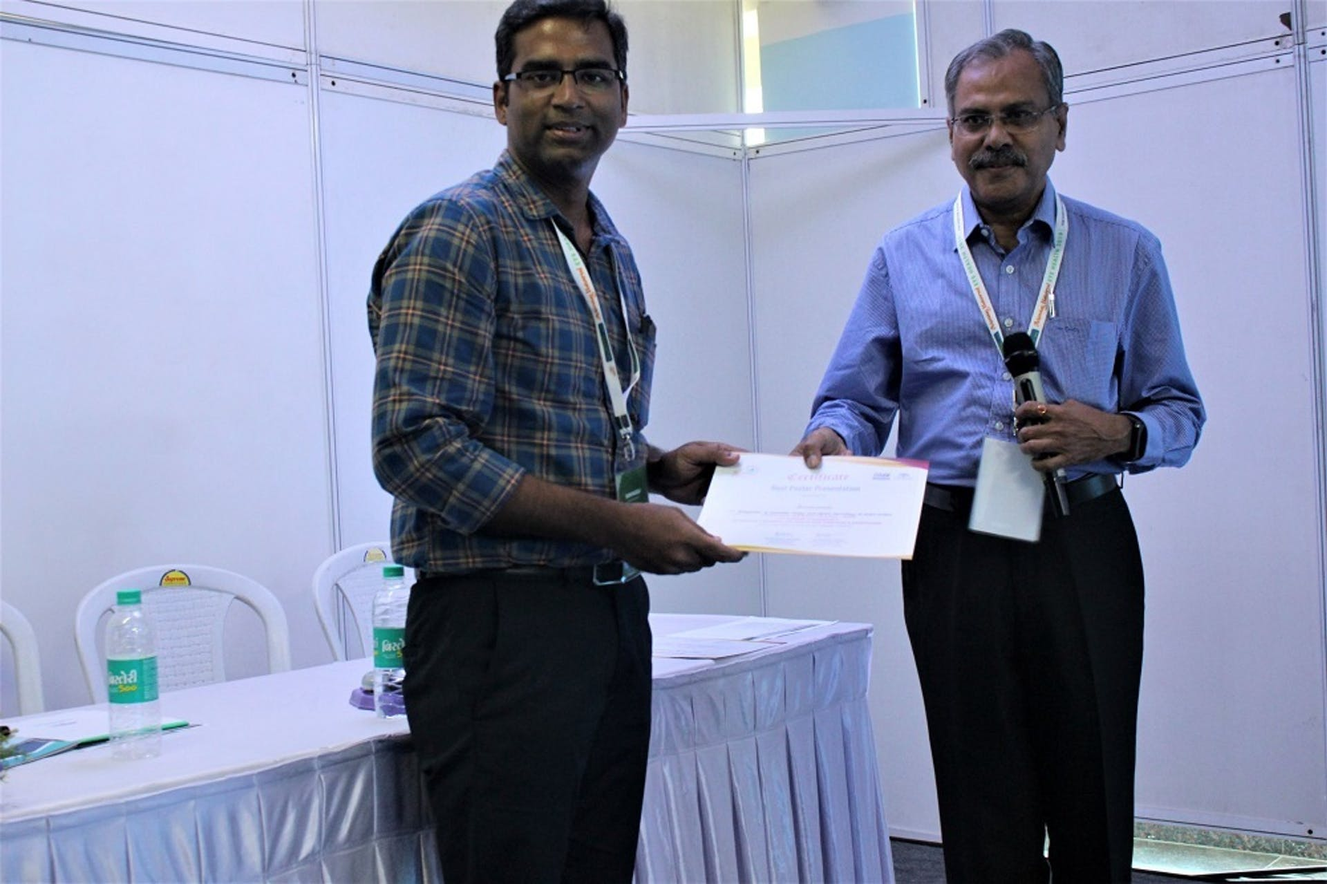Srinivasulu, Program Development Manager,  presented on 'Integration of renewable energy and digital technology at vision centers (VC) to provide access to uninterrupted primary eye care services for remote and underserved communities'