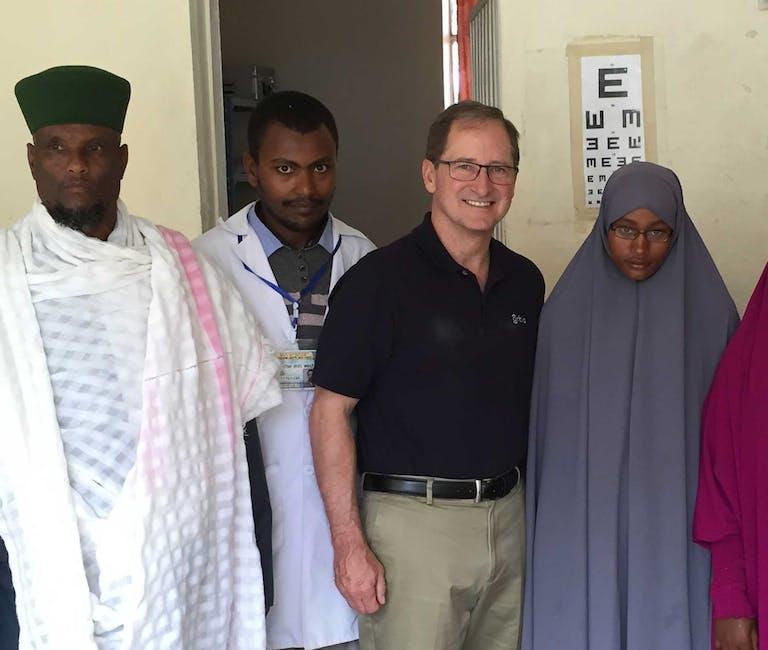 CEO Bob Ranck visiting Orbis's partners in Ethiopia.