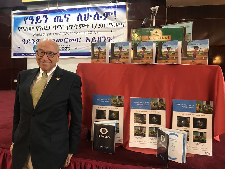 Ken Youngstein at the launch of The Singing Tree in Ethiopia