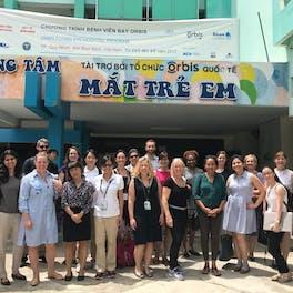 The Orbis Global Communications Team global communications team in Binh Dinh, Vietnam
