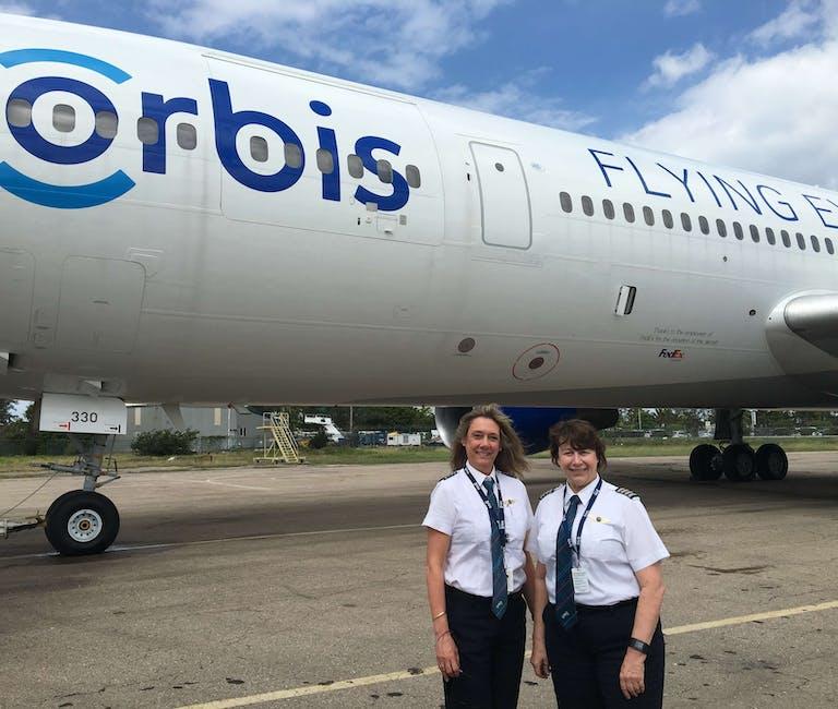 Our Flying Eye Hospital welcomed its first ever all-female flight crew Cyndhi Berwyn and Cheryl Pitzer