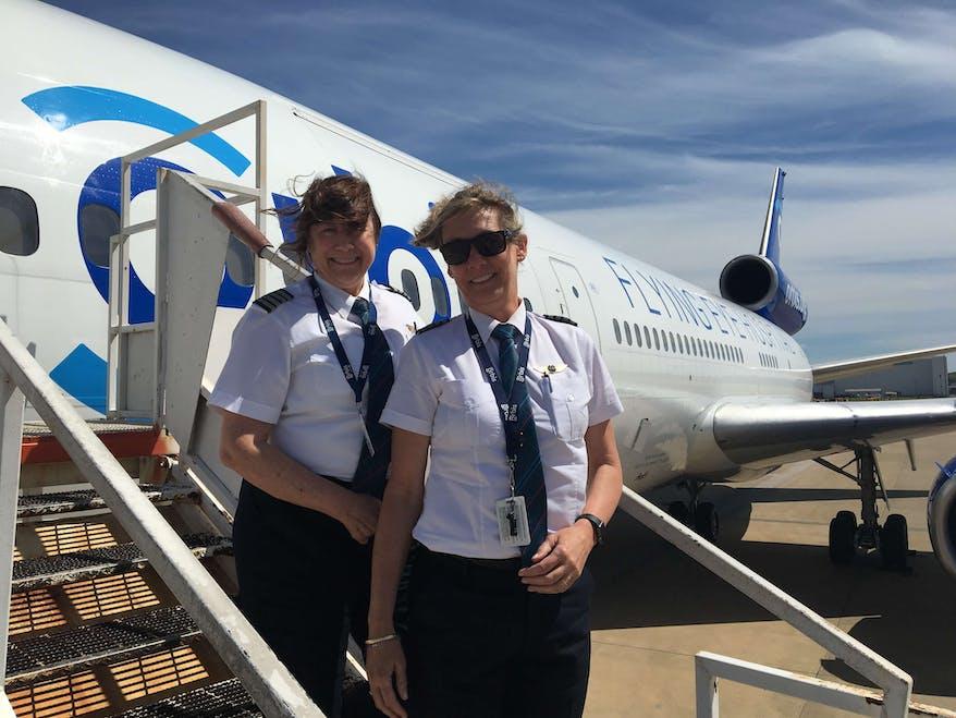 Both volunteer pilots fly for FedEx