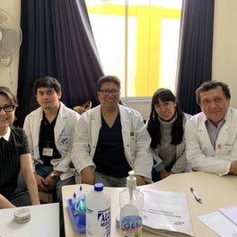 Orbis Volunteer Faculty Dr. Laura Wayman with her team in Peru