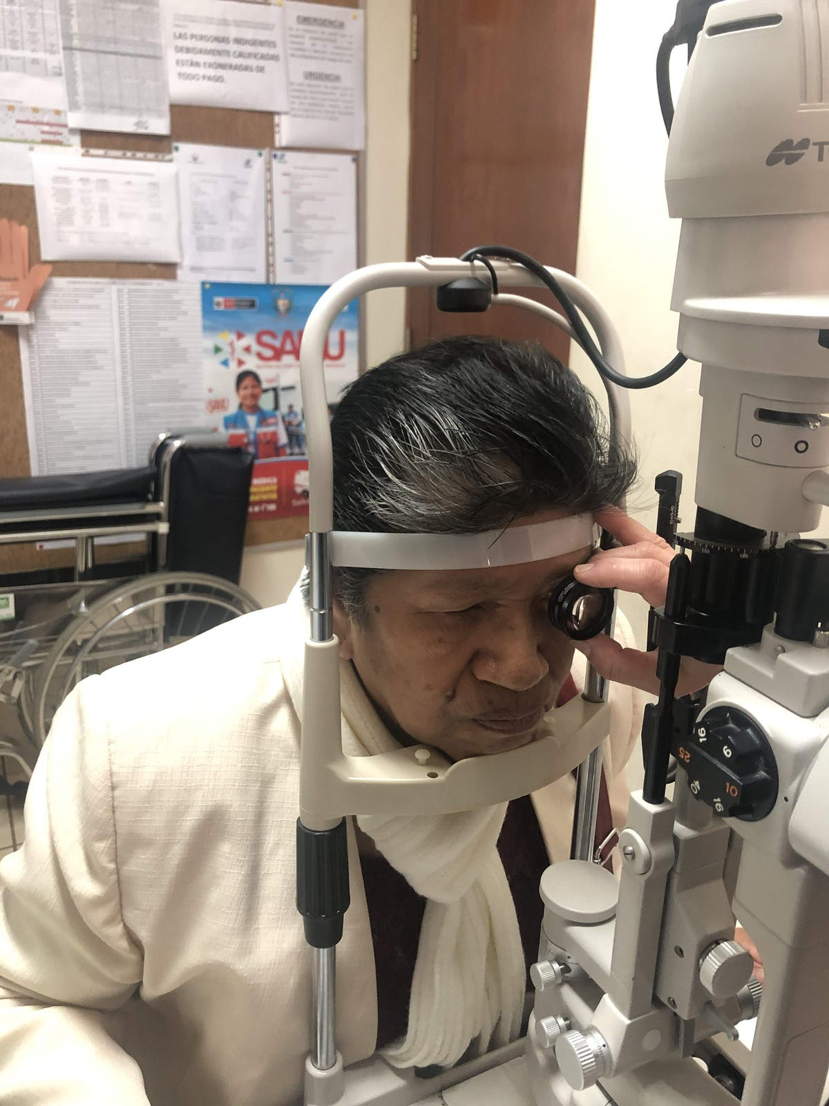Post-cataract surgery for 69-year-old patient Maria