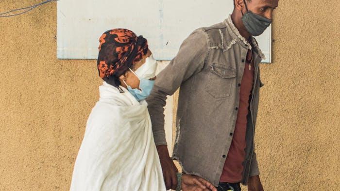 Belay Bonger arriving at the health center