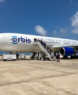 Flying Eye Hospital In Barbados