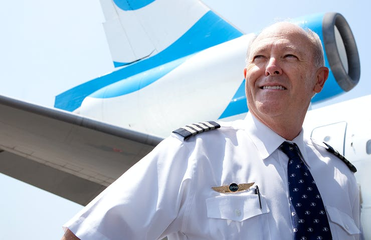 Flying Eye Hospital pilot and FedEx volunteer Captain Gary Dyson