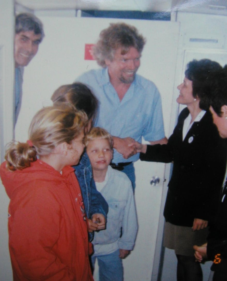 Former Director of External Affairs Holly Peppe Interview: Richard Branson visits the Orbis Flying Eye Hospital