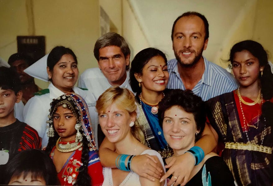 Former Orbis Director of External Affairs Holly Peppe with the late Oliver Foot And The Team In India