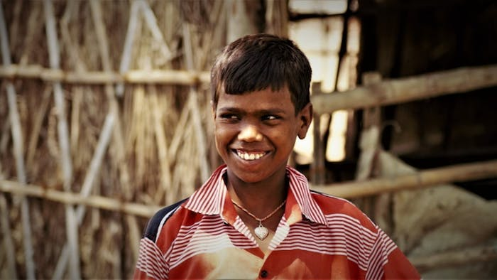 10-year-old traumatic cataract patient Shivjee lives in Bihar