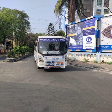 In Kolkata, urgent eye care is safely delivered with the help of the Vision Vans