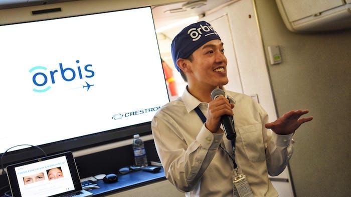 Orbis Flying Eye Hospital first time volunteer faculty Dr. Bradford Lee