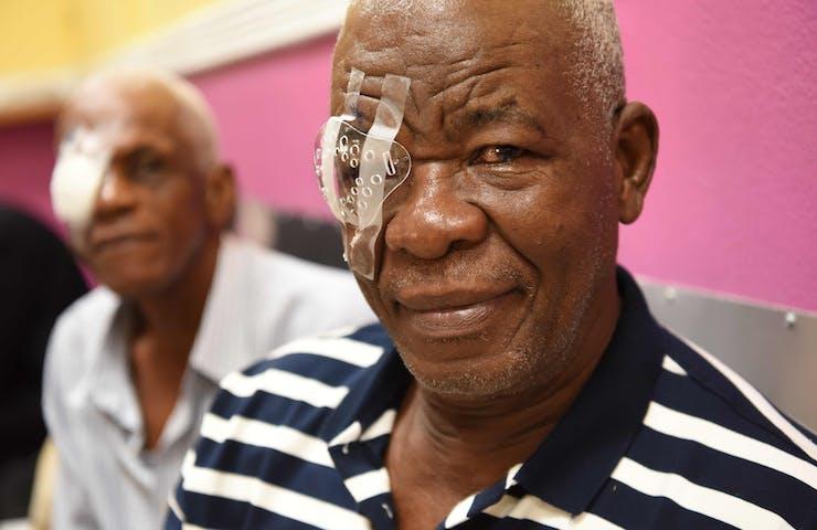 Orbis Flying Eye Hospital Jamaica cataract patient Denzil