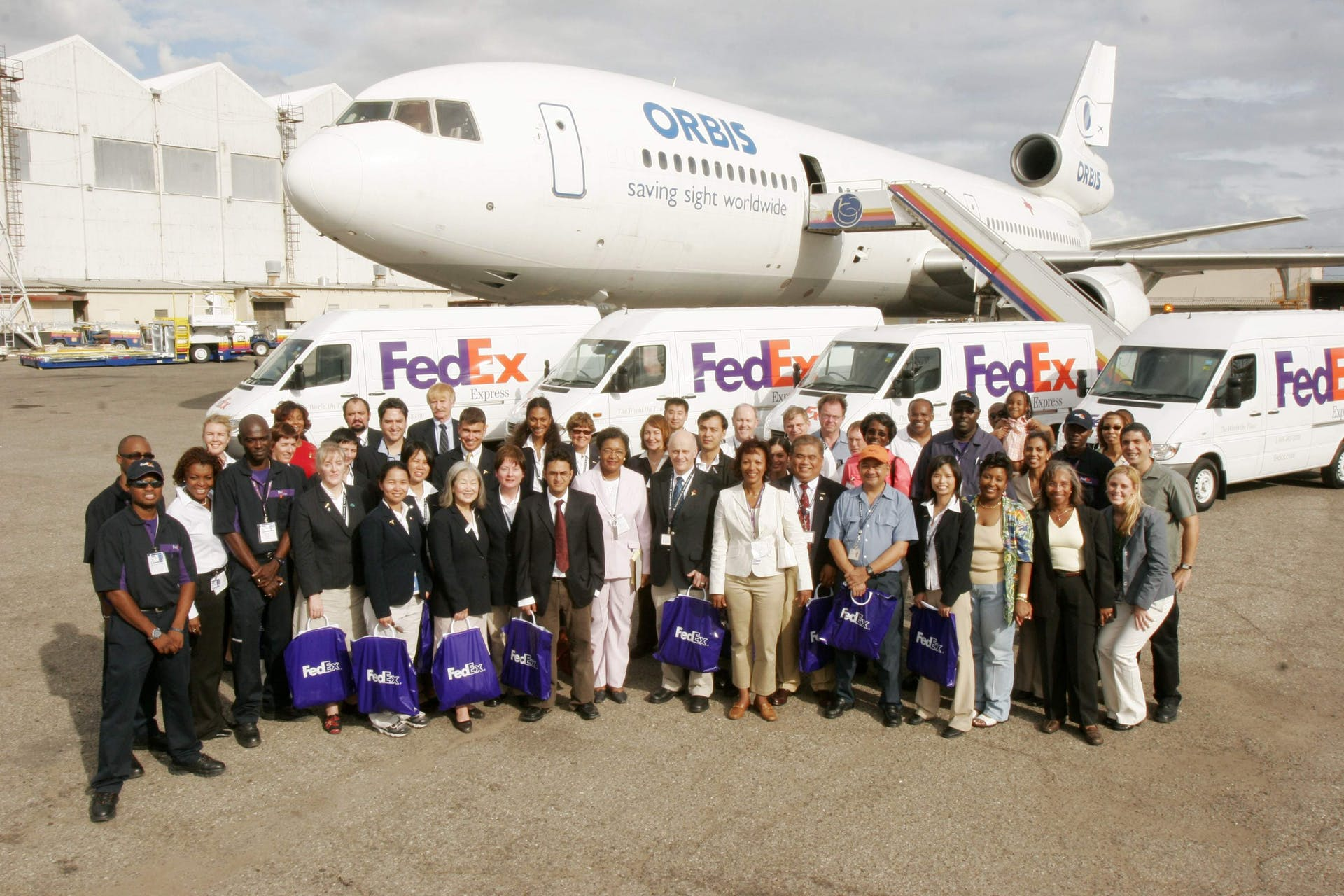 Orbis Flying Eye Hospital in Jamaica 2006 was supported by Fedex