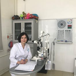 Pediatric ophthalmologist Dr. Shamsiya Murat performed Marla's cataracts surgery