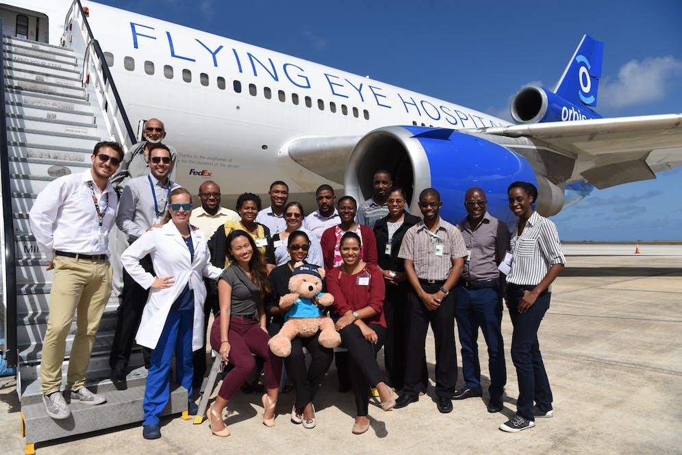 Orbis team in Barbados.