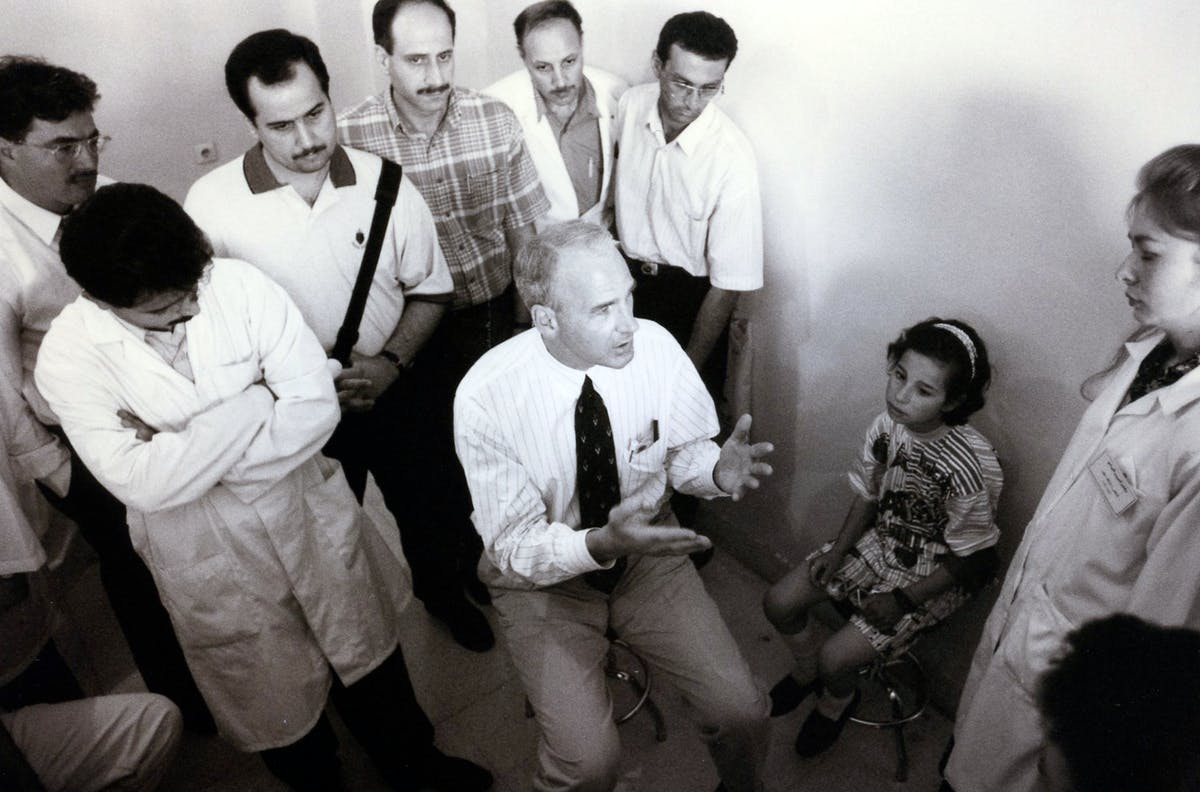 Orbis Doctor in Damascus in 1998.