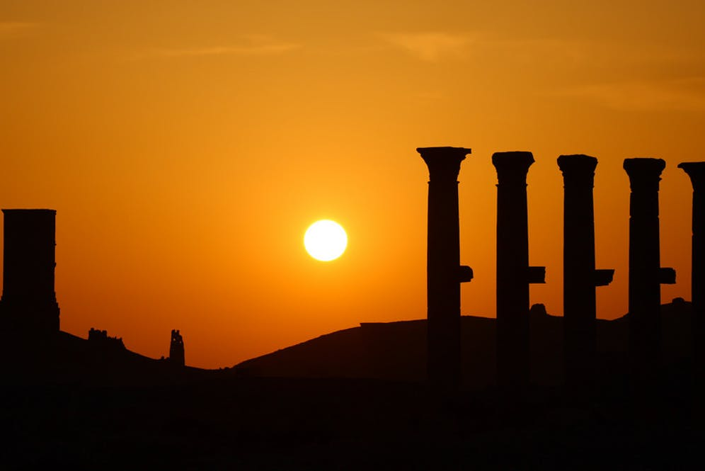 A Syrian sunset