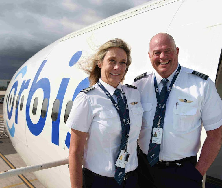 Valentine's Day: Volunteer pilots Pete & Cheryl Pitzer outside the Orbis Flying Eye Hospital